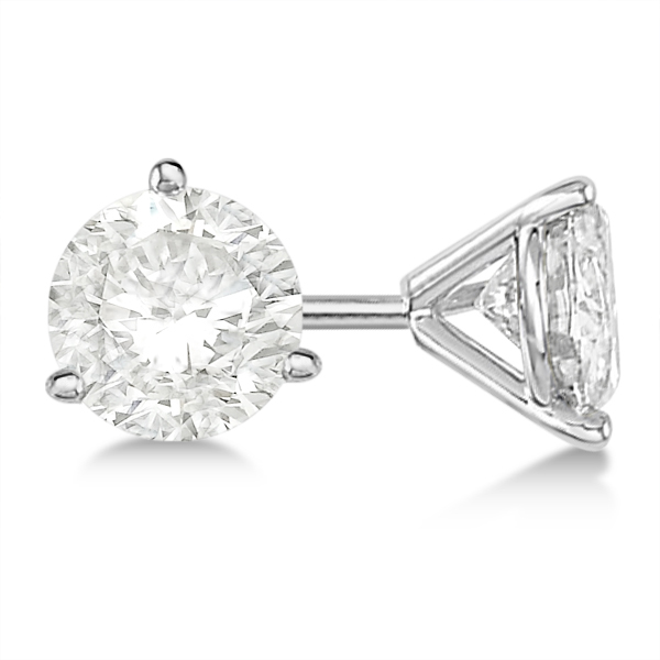 Round Diamond Stud Earrings 3