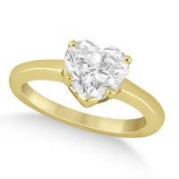 Heart Shaped Solitaire Diamond Engagement Ring Setting 14k ...