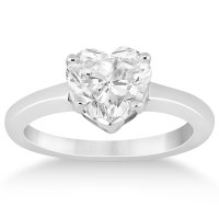 Heart Shaped Engagement Ring & Wedding Band Bridal Set 14k ...