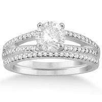 Split Shank Pave Set Diamond Engagement Ring & Wedding ...