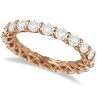 Luxury Diamond Eternity Anniversary Ring Band 14k Rose ...