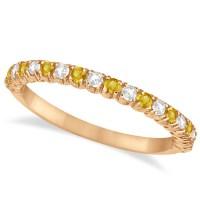 Yellow Sapphire & Diamond Wedding Band Anniversary Ring ...