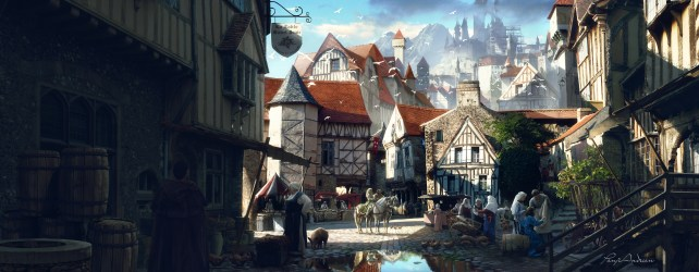 medieval morning hd wallpapers town panji andrian background deviantart dd comments fantasy preview artstation