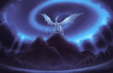 wallpapers fantasy drachen dragon sky dragons epic night hd magic ice skies wind mystical desktop awesome frost klicken vorschau dies