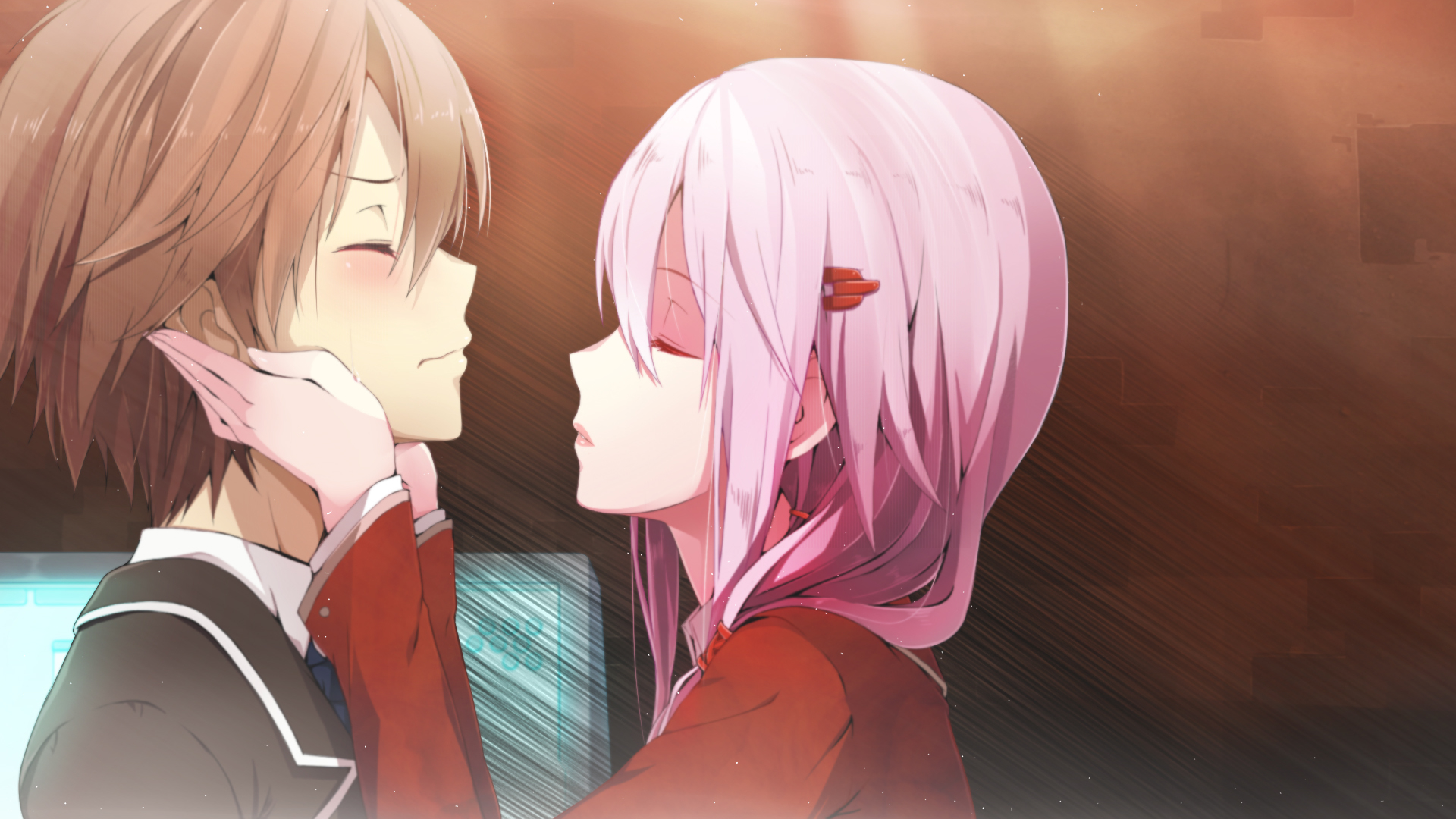 Cute Hugging Couples Wallpapers Guilty Crown Hd Wallpaper Background Image 1920x1080
