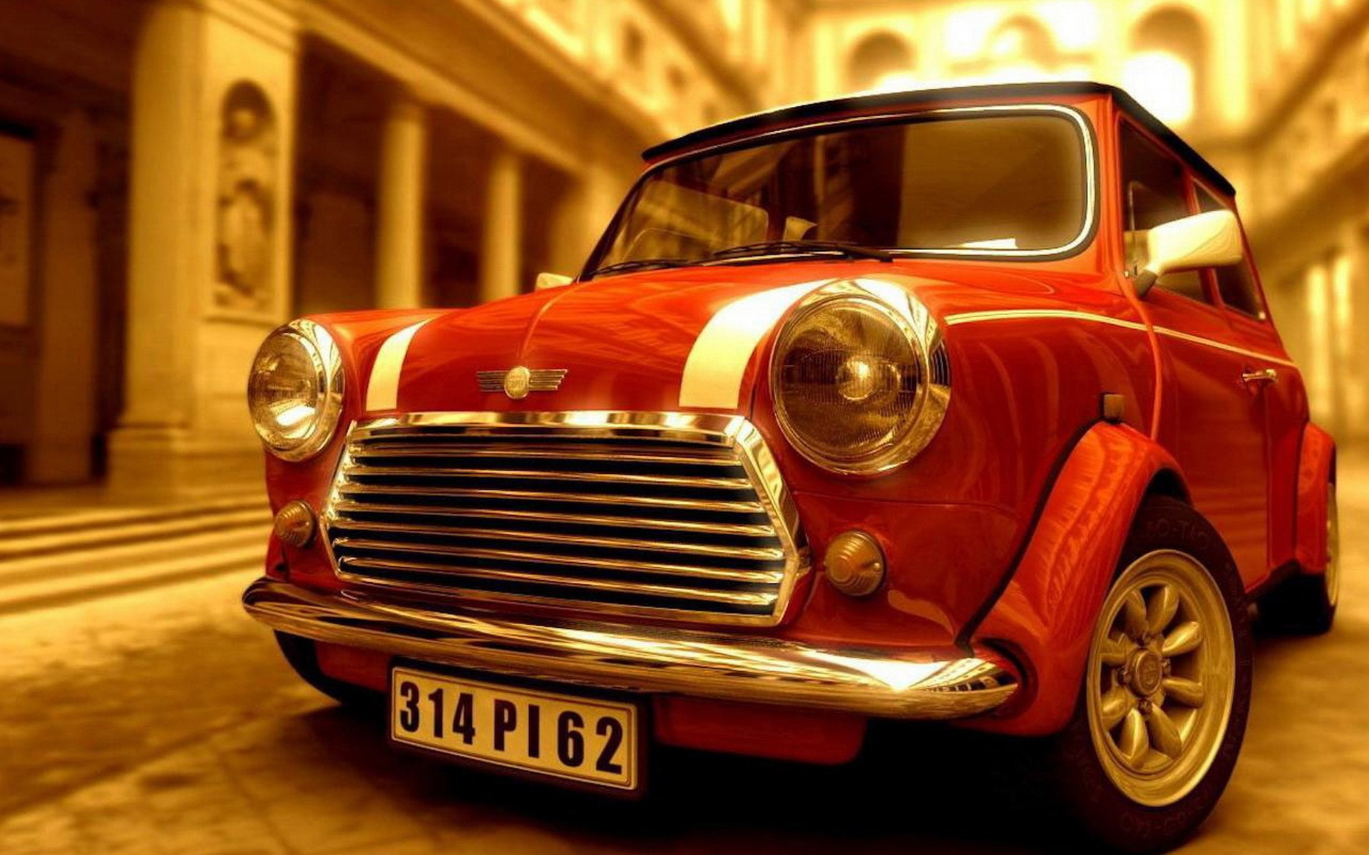 Classic Old Car Wallpapers 1600x900 Mini Cooper Full Hd Wallpaper And Background Image