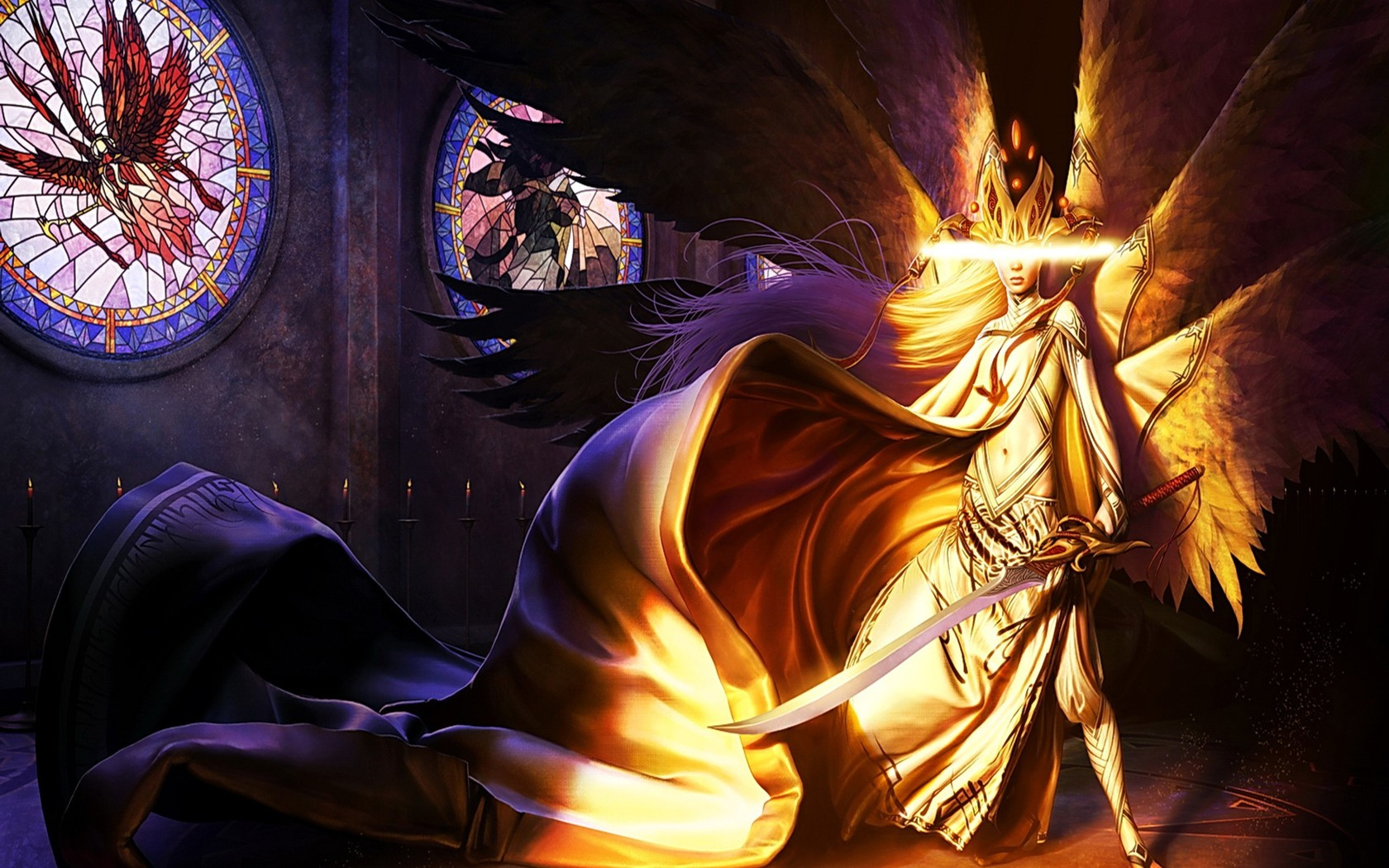 Archangel Michael Hd Wallpaper Fire Angel Warrior Wallpaper And Background Image