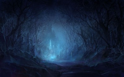 hd wallpapers place dark forest night fantasy castle backgrounds mysterious moon halloween woods creepy scary cool places snow cat magical