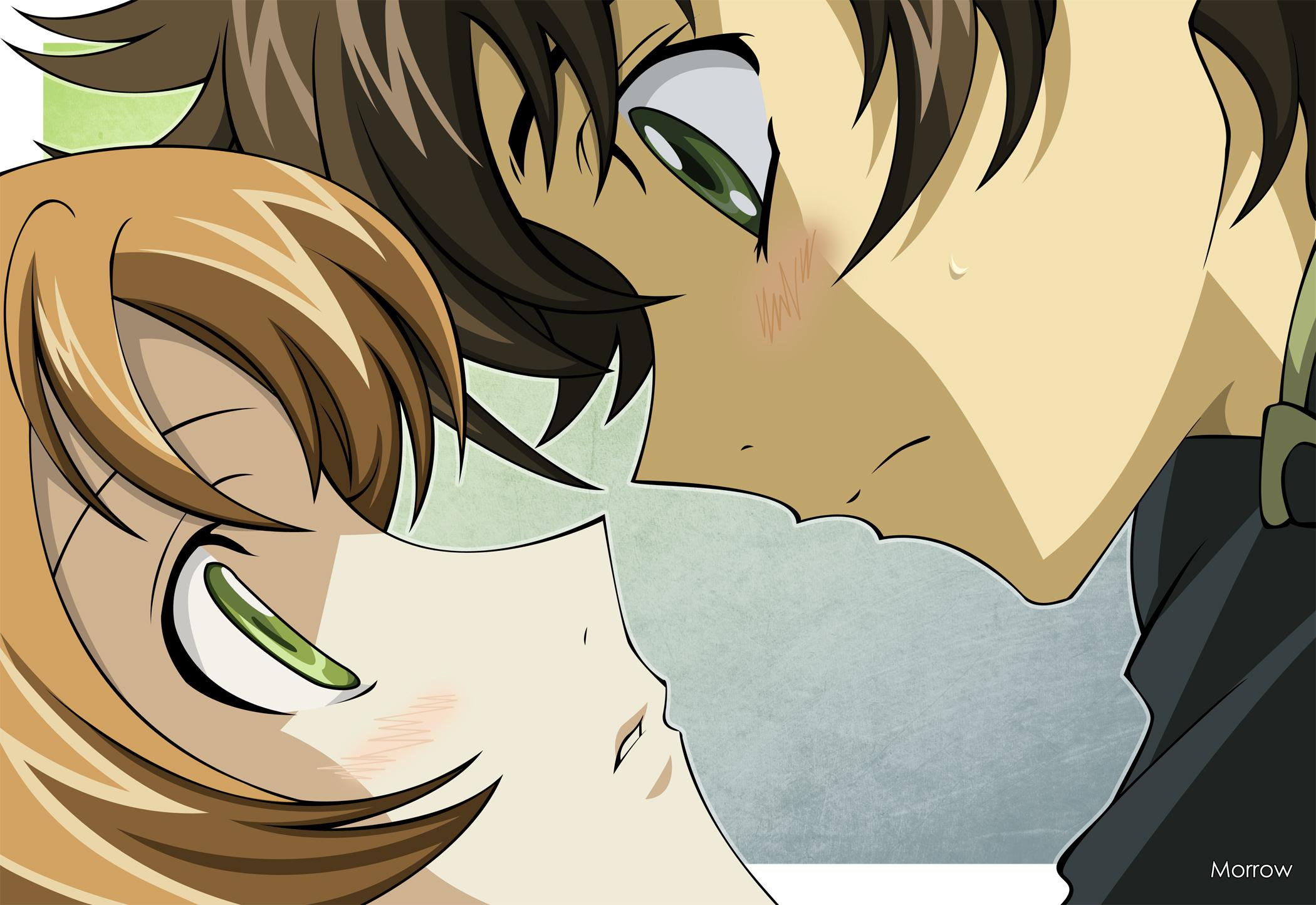 Girl Kisses Boy Wallpaper Almost Kiss Hd Wallpaper Sfondi 2100x1444 Id 438759
