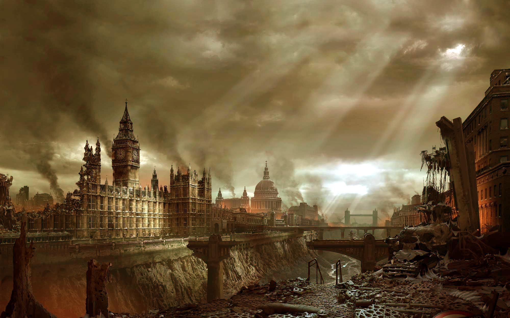 Sci Fi - Post Apocalyptic  Apocalyptic Hellgate London Wallpaper
