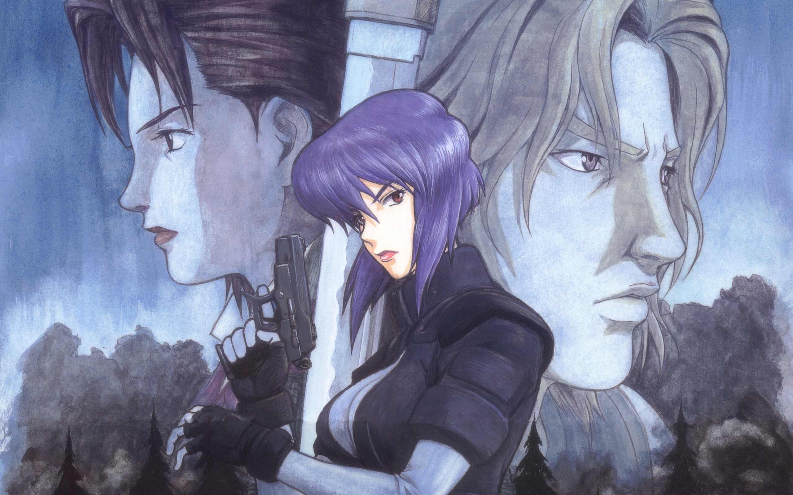 Ghost Anime Girl Wallpaper Ghost In The Shell Full Hd Wallpaper And Background Image
