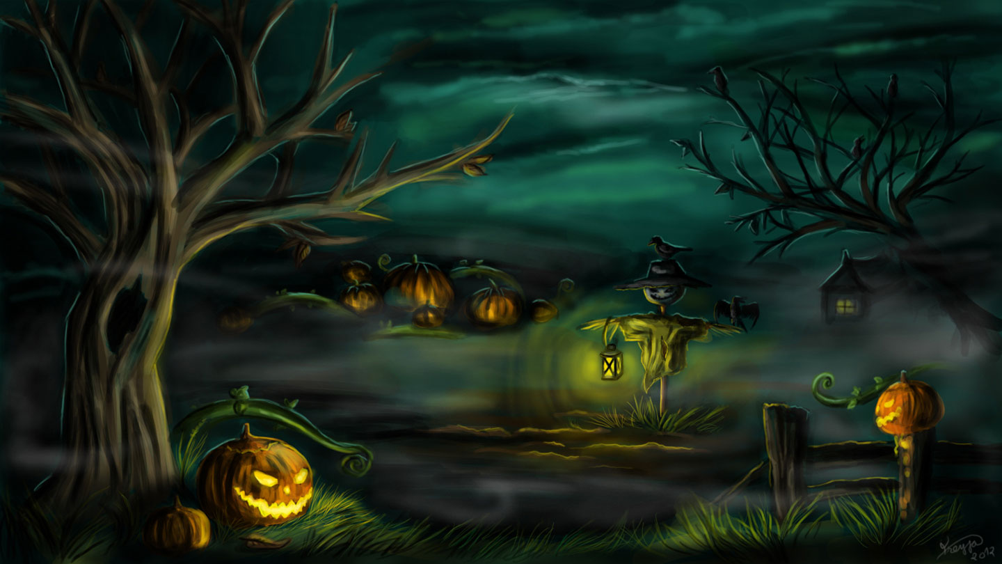 Wallpaper, backdrop, card, flat lay, place for text, copy space, close. Halloween Wallpaper And Background Image 1440x810