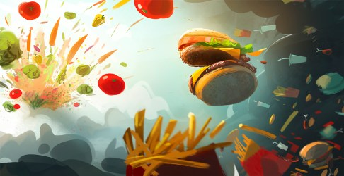 food fast backgrounds wallpapers computer artistic demons vs background desktop angles junk wall preview alphacoders deviantart abyss