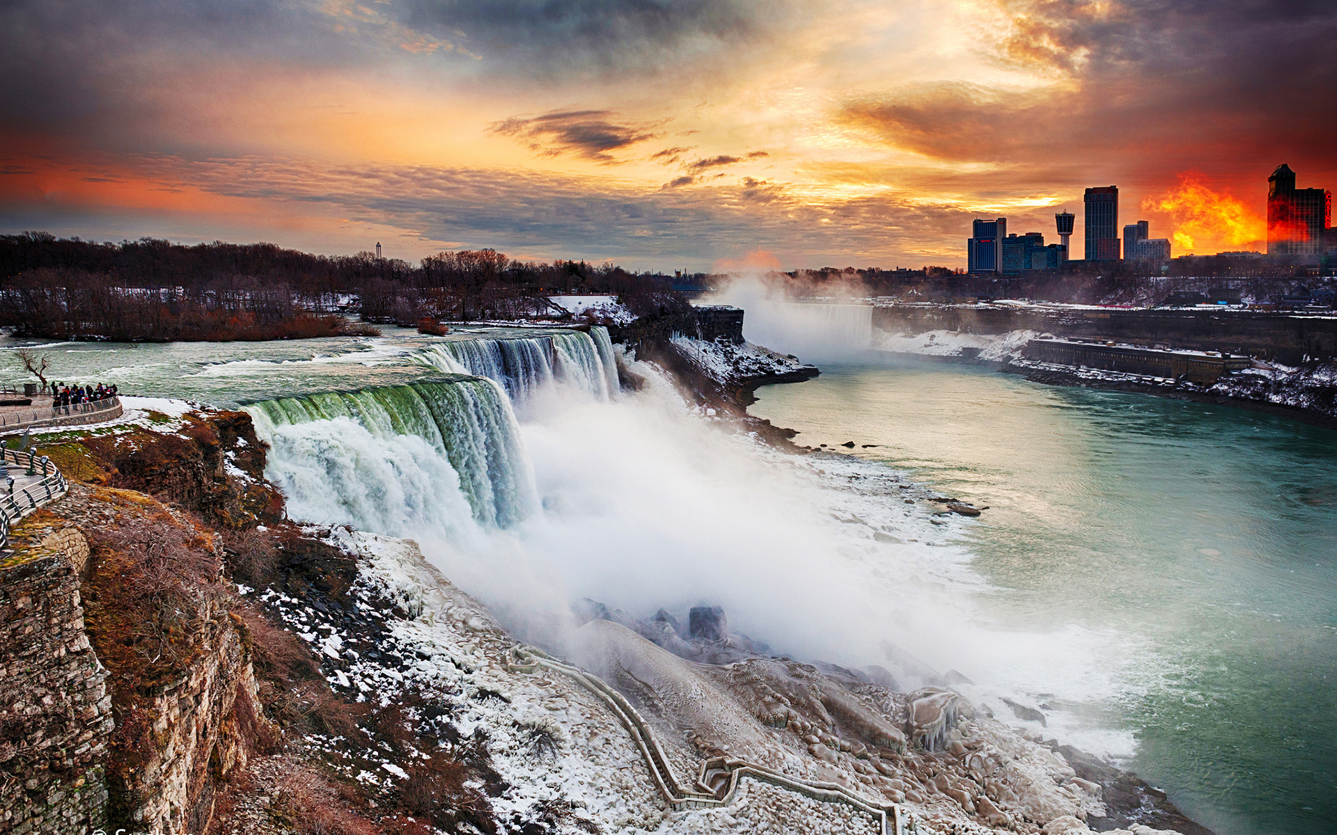 Niagara Water Falls Desktop Wallpaper Niagara Falls Full Hd Wallpaper And Background Image
