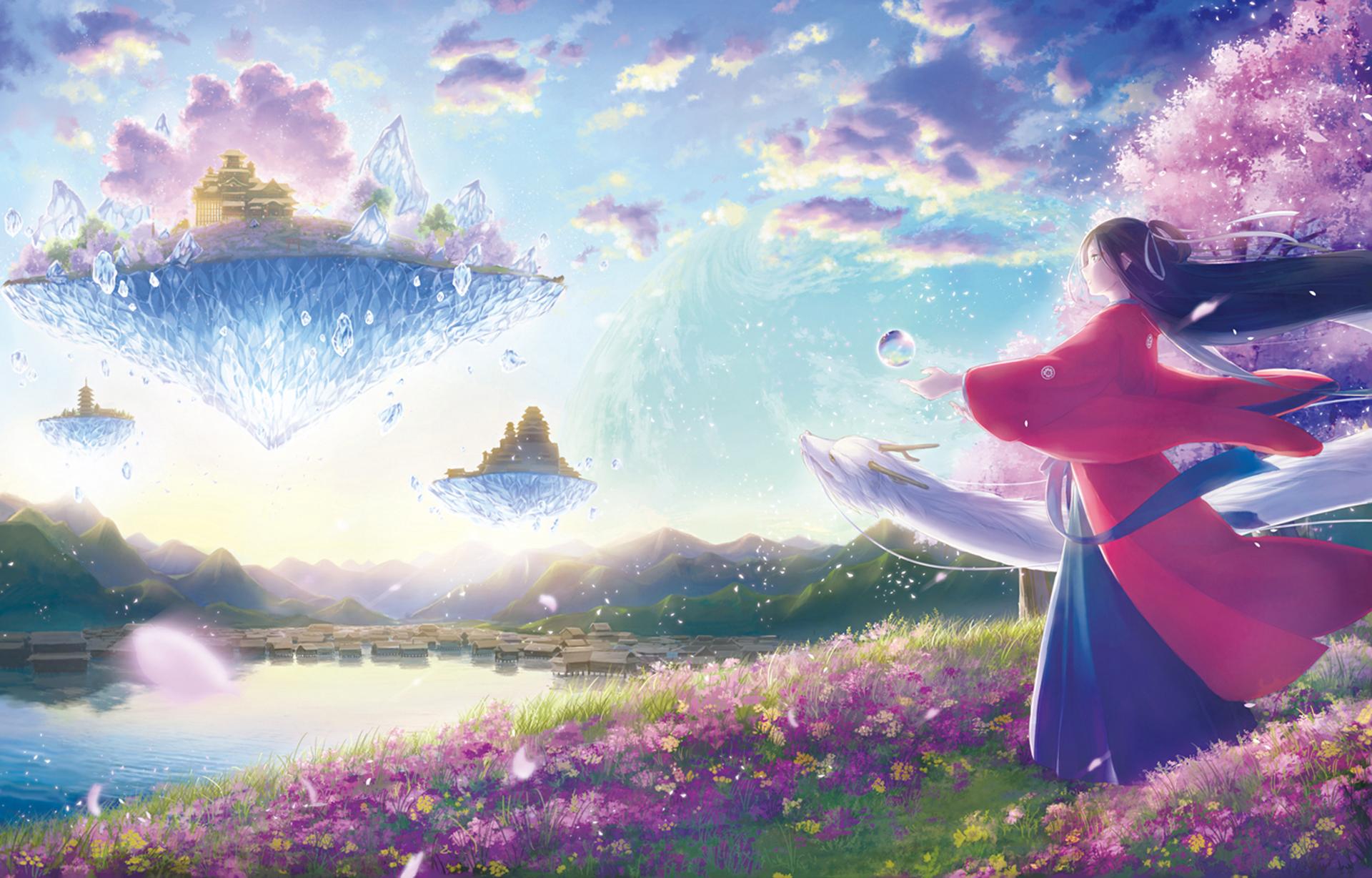 Beautiful Colorful Girls Anime Sakura Wallpaper Beautiful Landscapes 17 Wallpaper And Background Image