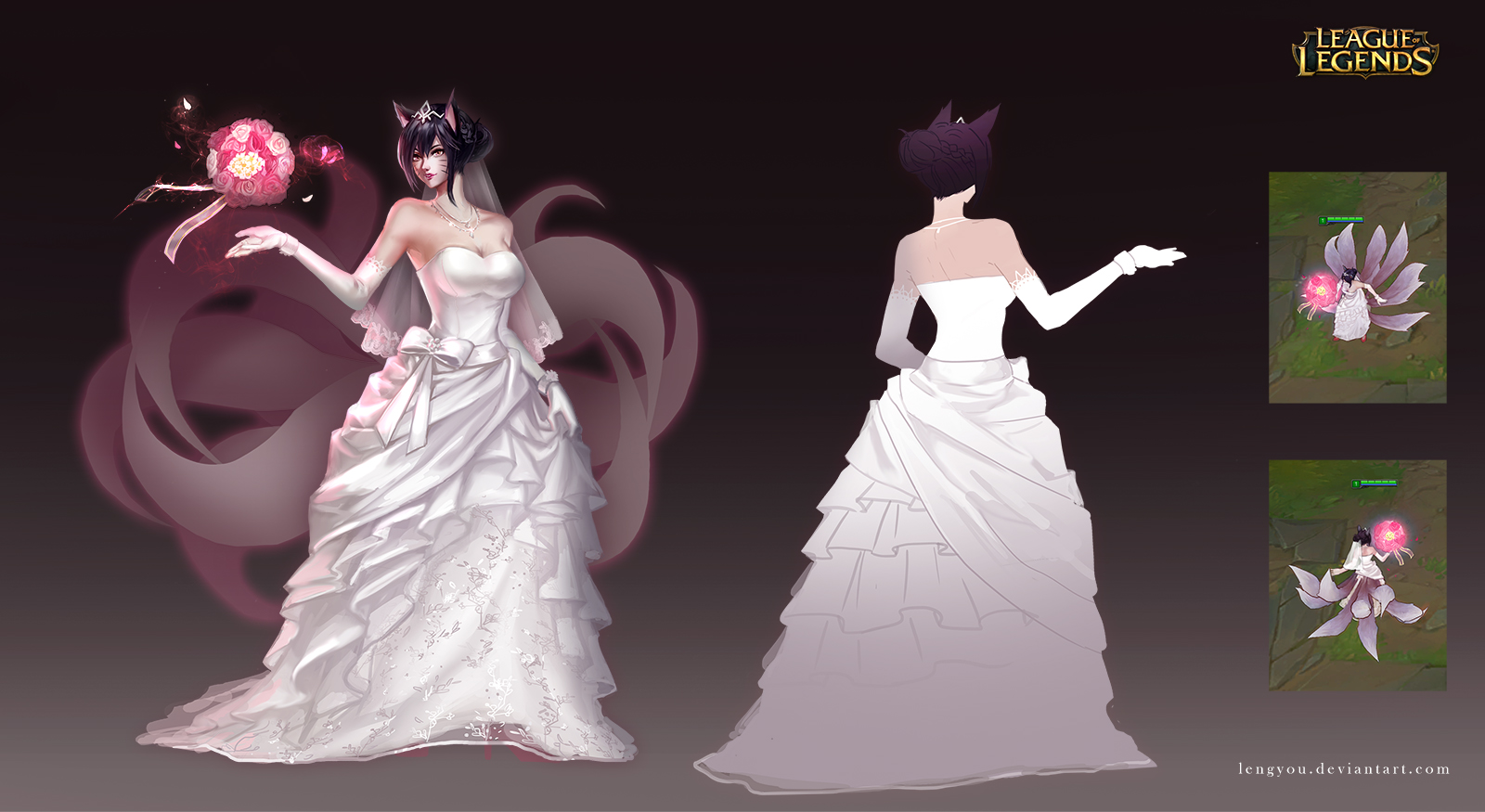 Death Girl Wallpaper Download Wedding Gown Ahri Wallpaper And Background Image