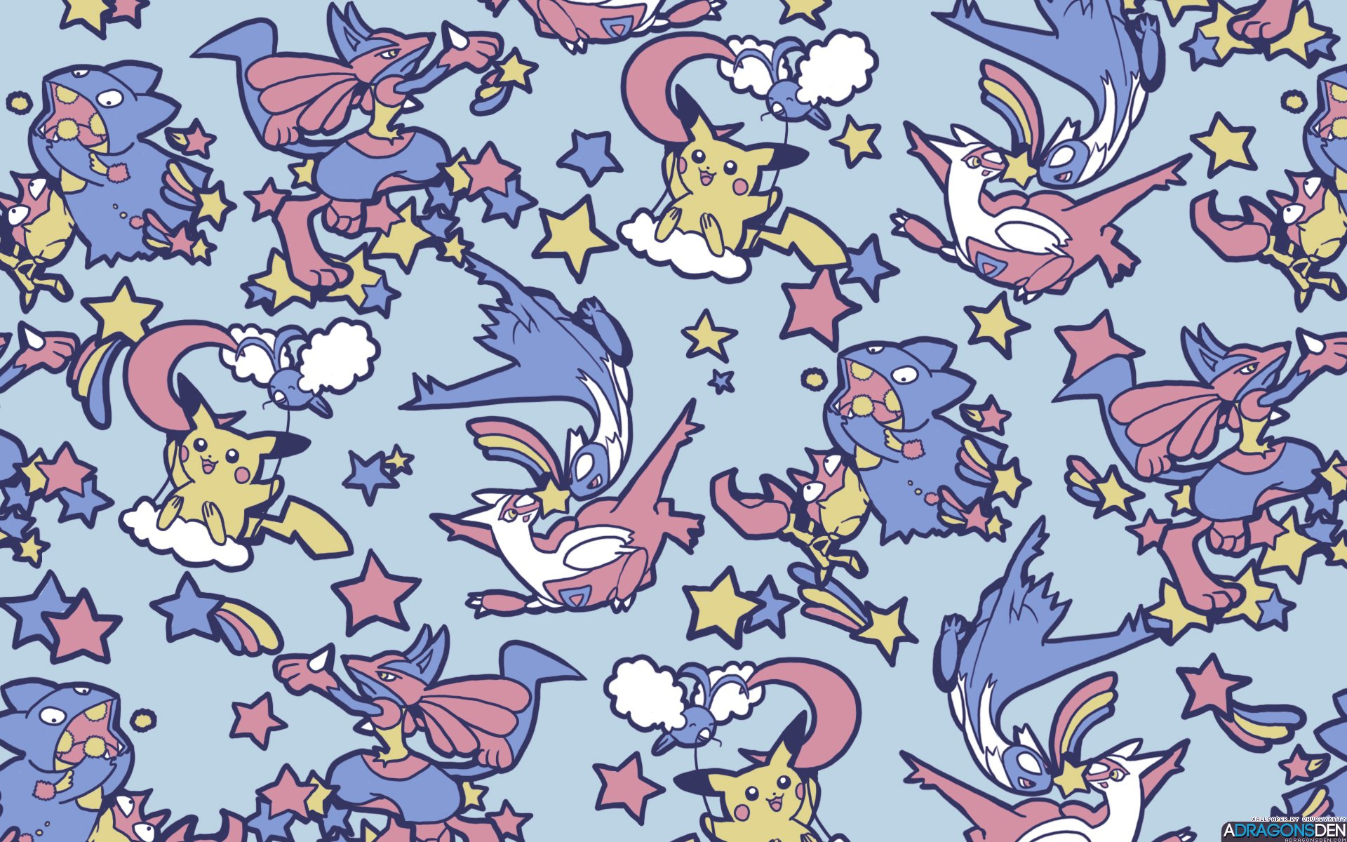 Mudkip Iphone Wallpaper Pokemon And Stars Hd Wallpaper Background Image