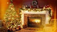 Living Room at Christmastime HD Wallpaper | Background ...
