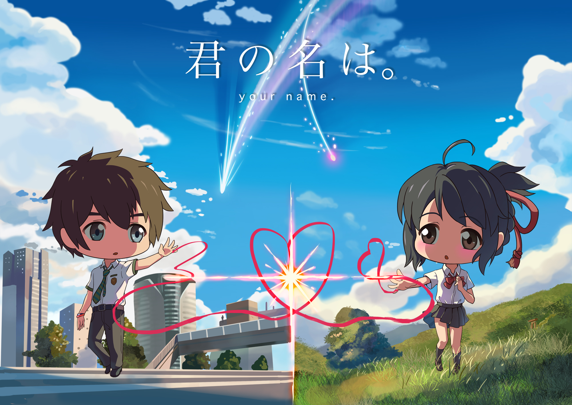 Subreddit for the movie kimi no na wa. Your Name. HD Wallpaper | Background Image | 2000x1414 ...