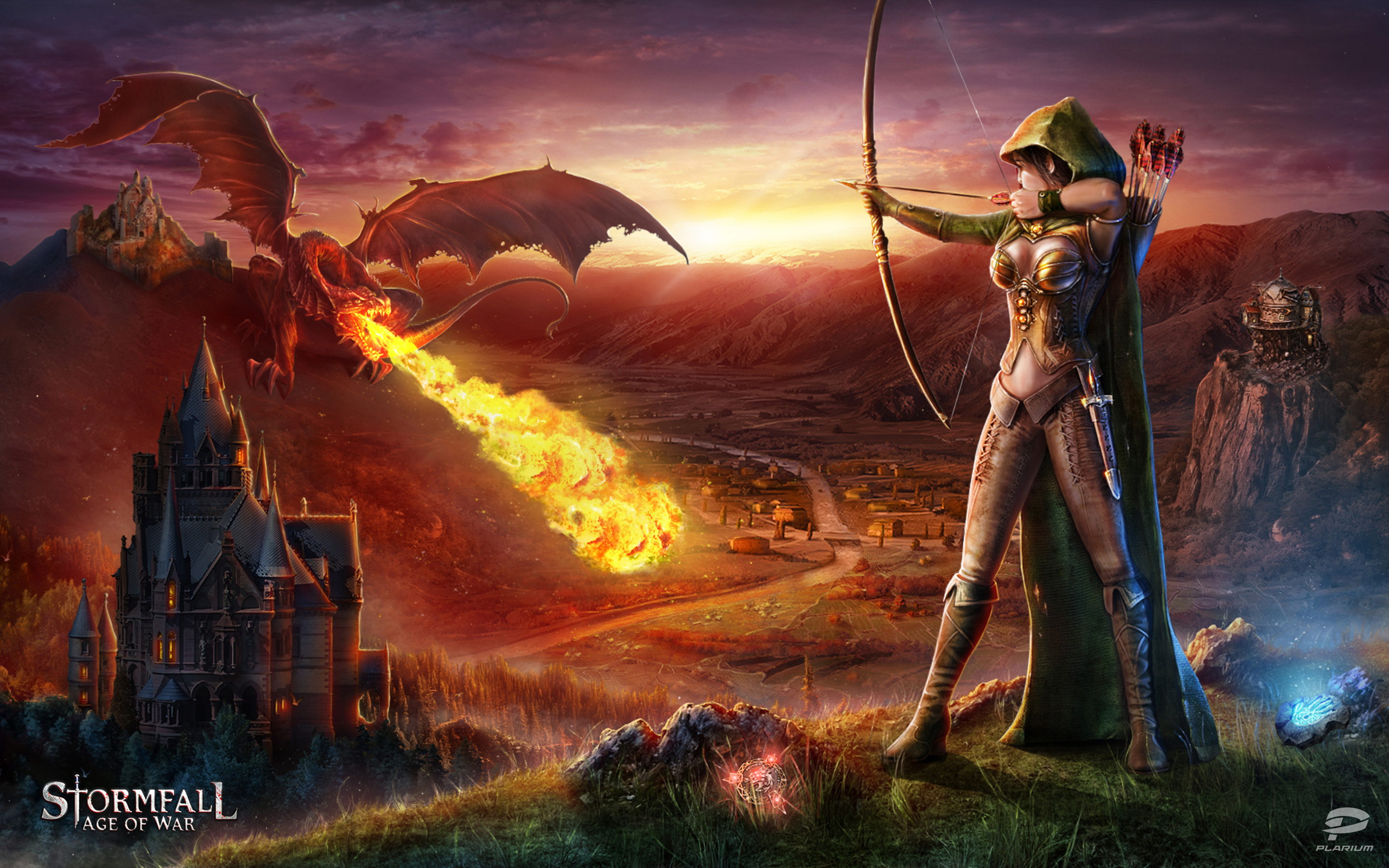 Fall Wallpaper For Large Monitors Stormfall Age Of War Hd Wallpaper Background Image