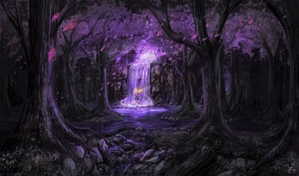 forest purple fairy fantasy magical tree background 4k wallpapers hd ultra preview