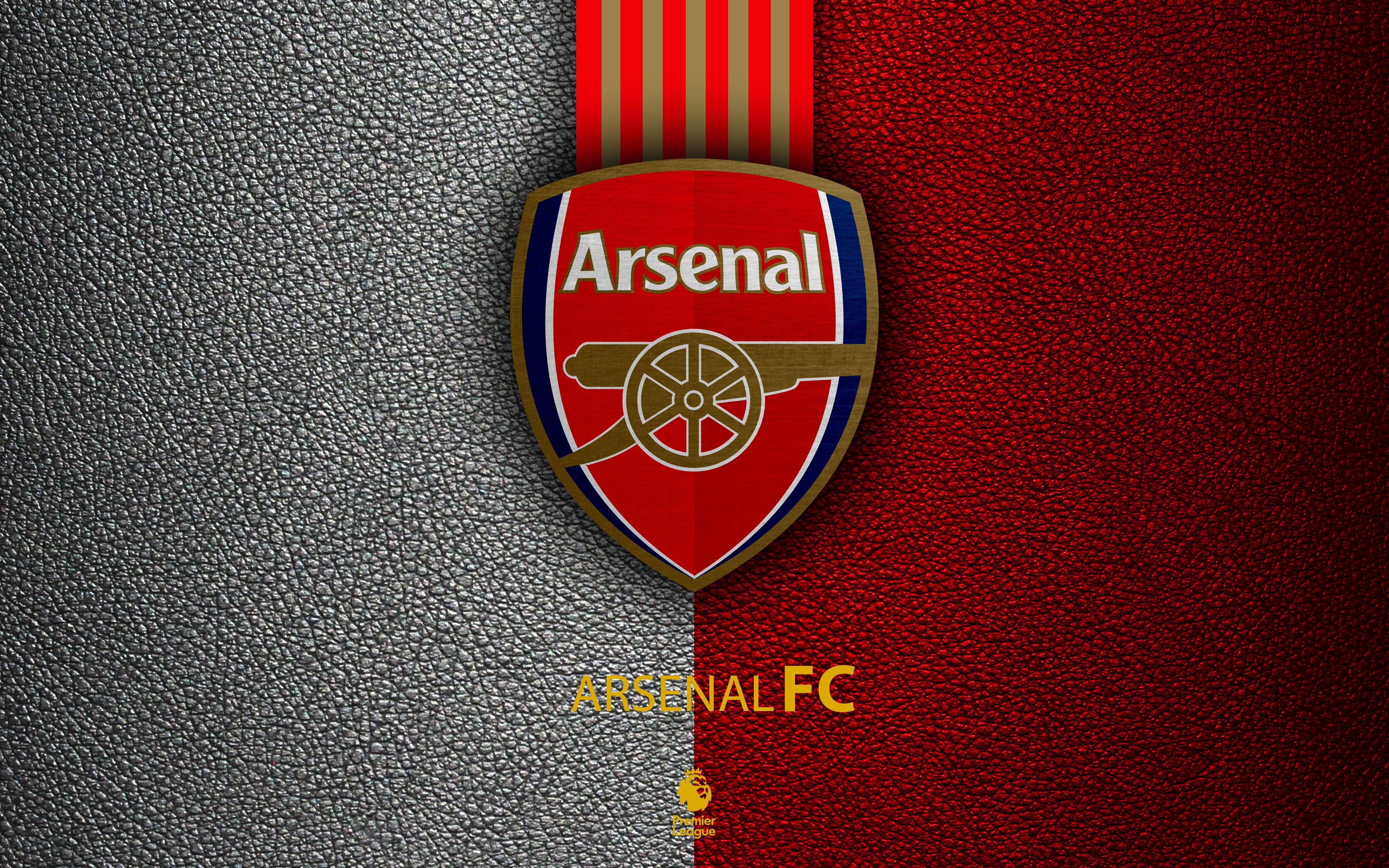 arsenal logo 4k ultra hd wallpaper