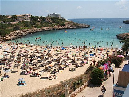 rent a chair small white chairs cala marsal, porto colom | alpha holiday lettings