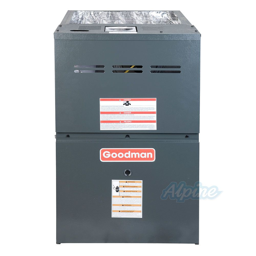 hight resolution of goodman gms80603an 60 000 btu furnace 80 efficiency single stage burner 1 200 cfm multi speed blower upflow horizontal flow application
