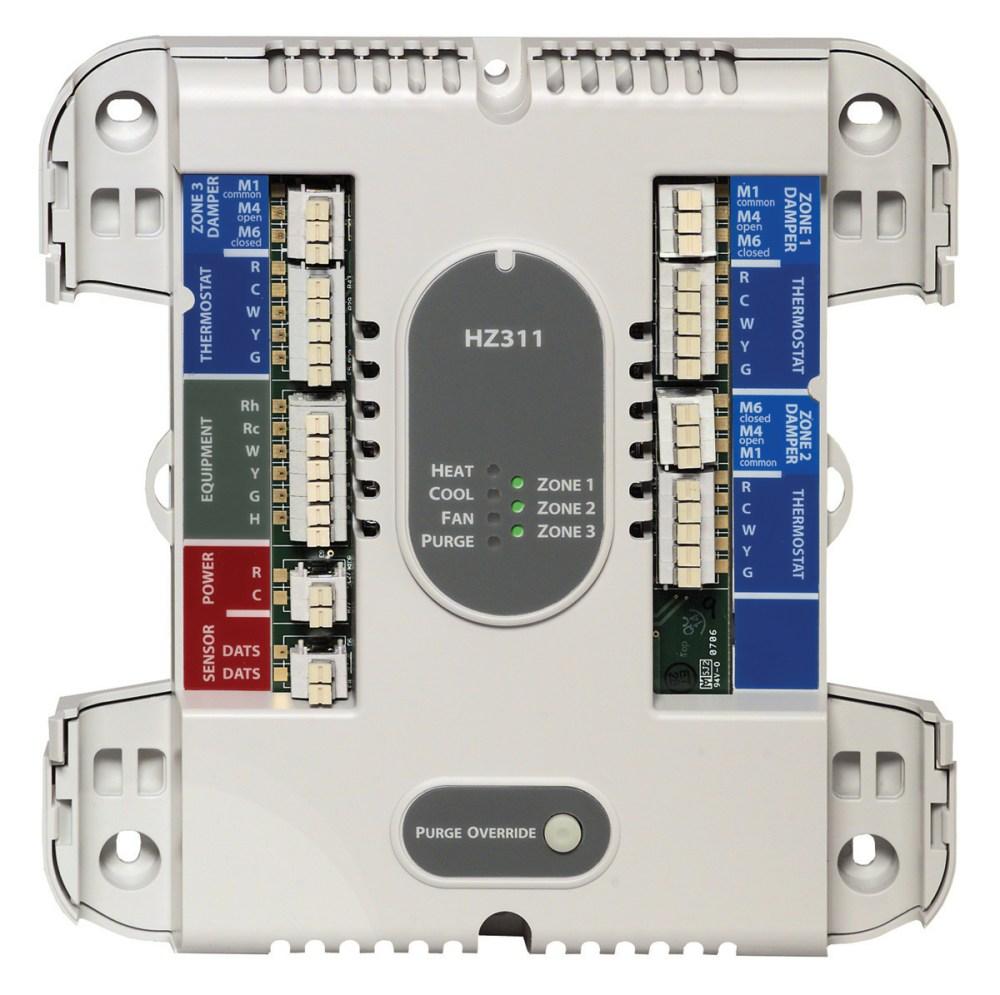 medium resolution of honeywell hz311 instructions brochures 3 zone single stage heat cool truezone control panel