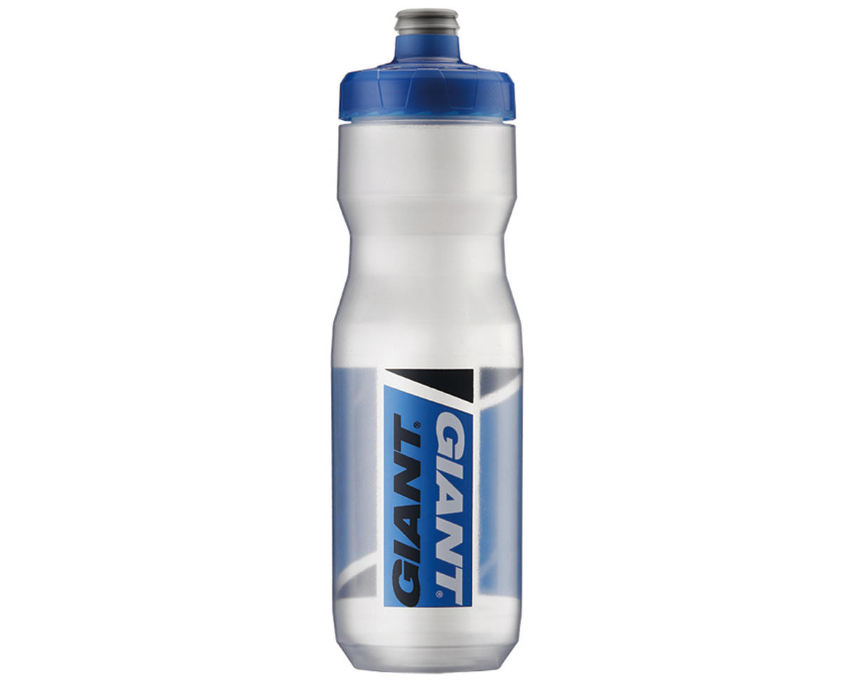Giant PourFast AutoSpring Bike Bottle 25oz ClearBlue