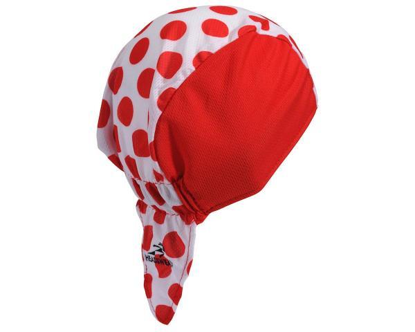 Headsweats Tour De France Red Polka Dot Skull Cap