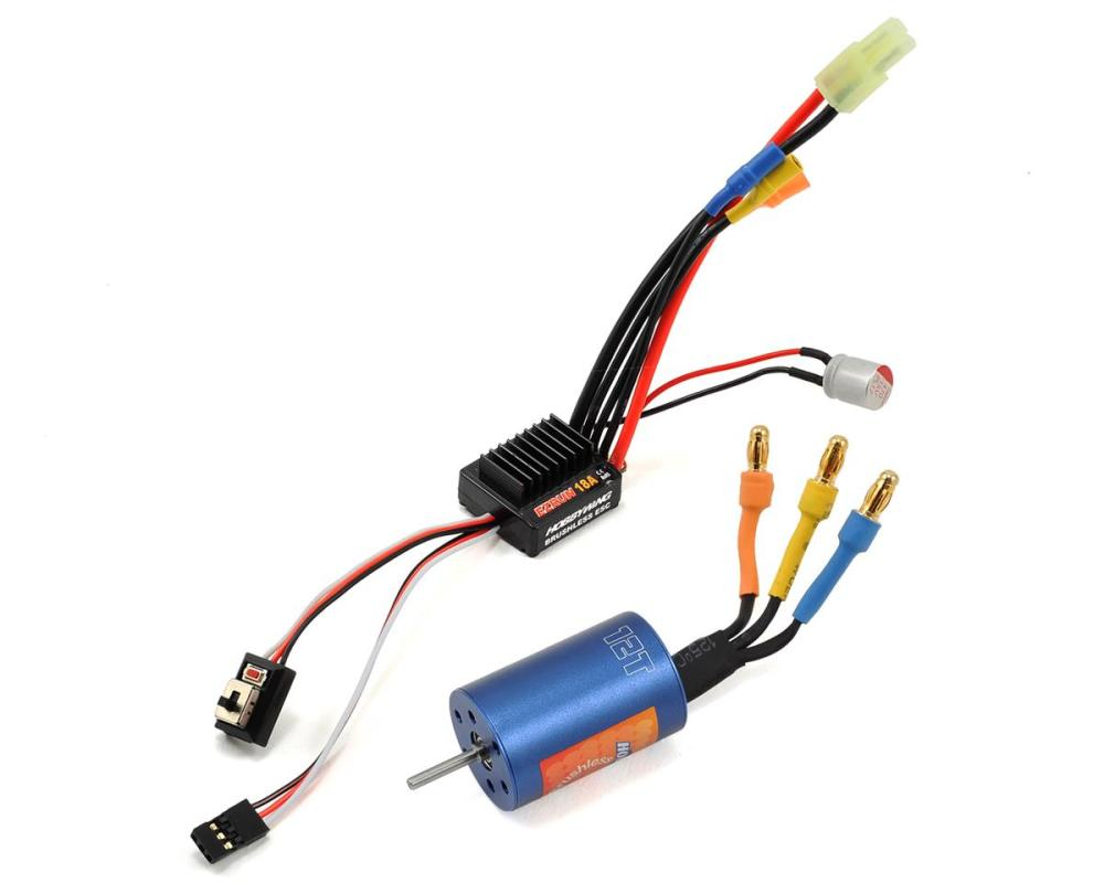 medium resolution of hobbywing ezrun 18a sensorless brushless esc motor combo 12 0t 7800kv hwa81030000 cars trucks hobbytown