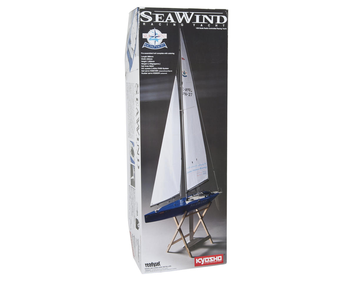 hight resolution of kyosho seawind readyset racing yacht kyo40462s b boats amain hobbies