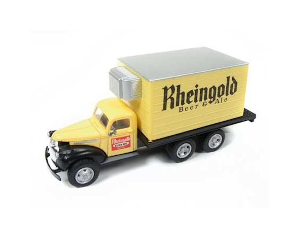 medium resolution of classic metal works ho 1941 1946 chevy reefer box truck rhiengold beer