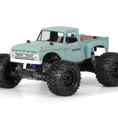 pro line 1966 ford f 100 truck body clear pro3412 00 cars trucks amain hobbies [ 1200 x 960 Pixel ]