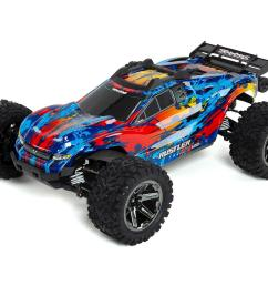 traxxas rustler 4x4 vxl brushless rtr 1 10 4wd stadium truck red tra67076 4 red cars trucks amain hobbies [ 1200 x 960 Pixel ]
