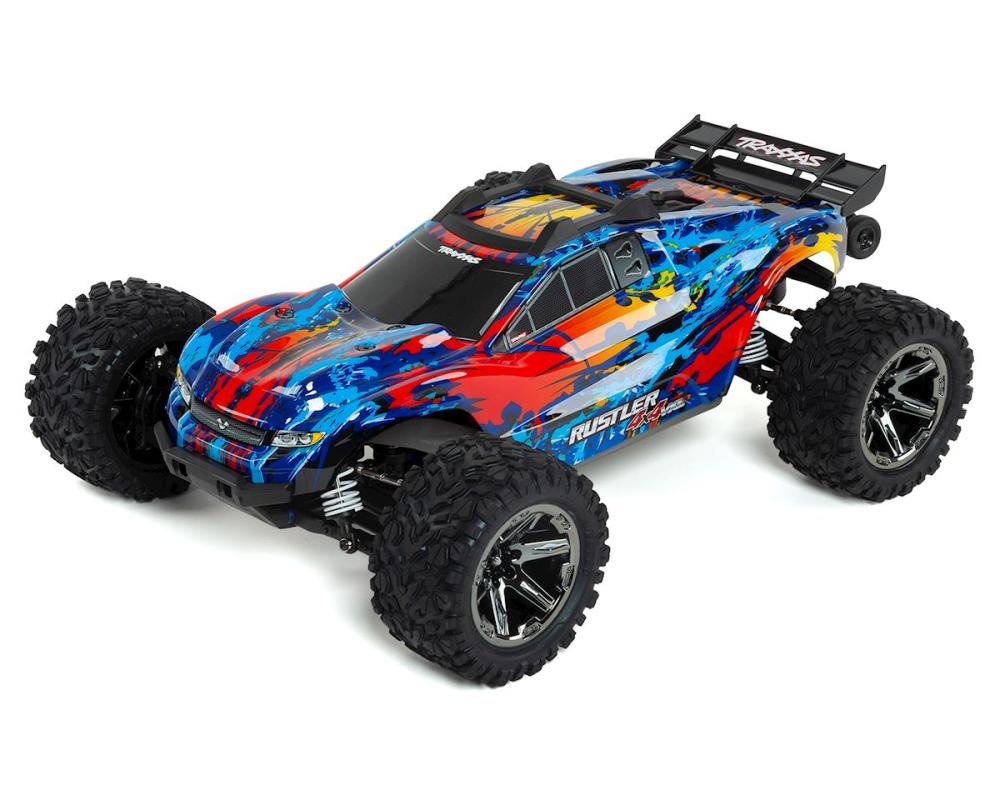 medium resolution of traxxas rustler 4x4 vxl brushless rtr 1 10 4wd stadium truck red tra67076 4 red cars trucks amain hobbies