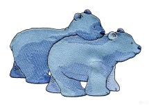 Two Bears Home Embroidery Design