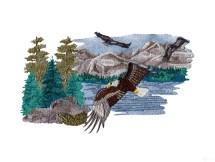 Mountain Scene Embroidery Designs