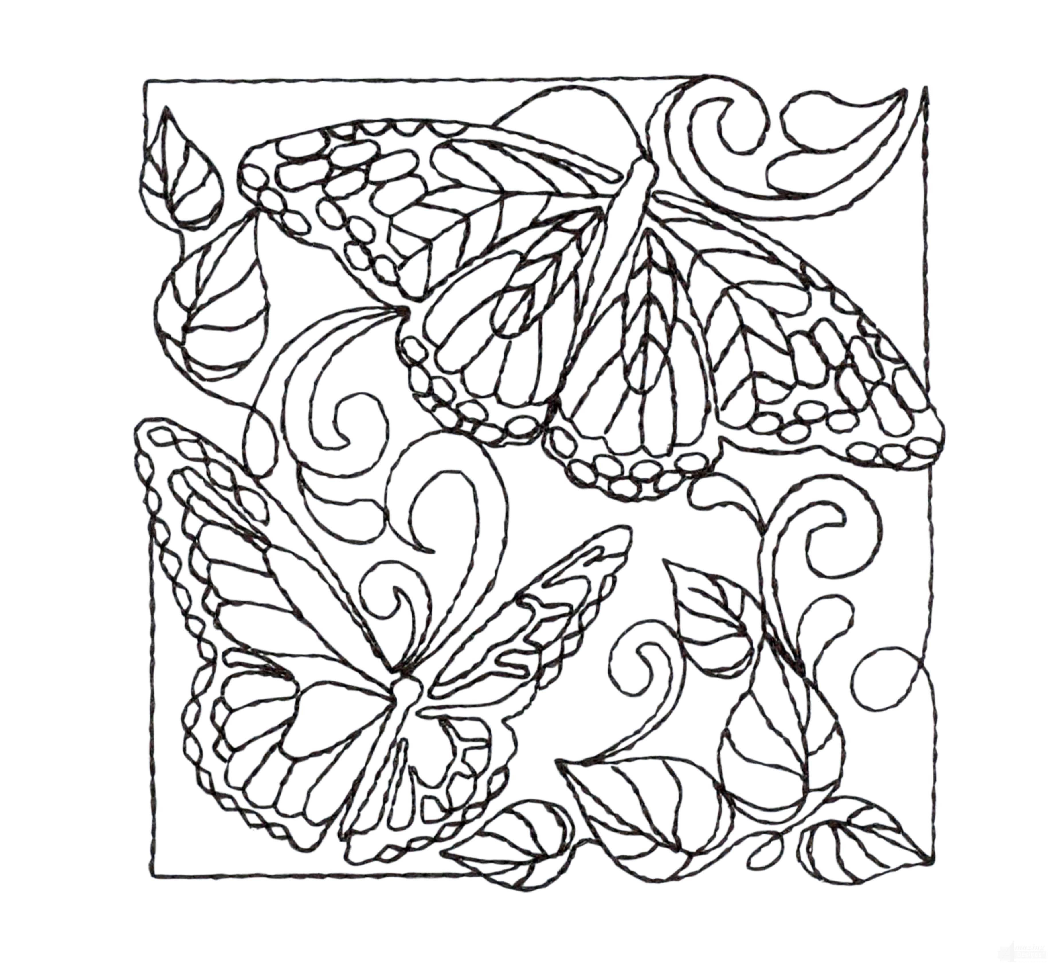 Creative Quilting Outlines Flora and Fauna Embroidery Design