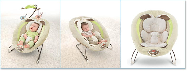 Fisher Price My Little Snugabunny Bouncer Seat Lifestyle Shot