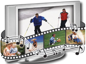 Create slide show movies from your photos and music!