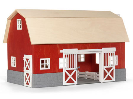 Wooden Toy Horse Barn