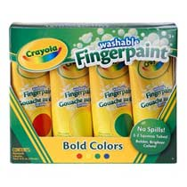 Crayola Washable Fingerpaint Primary Colors