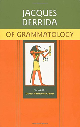 jacques derrida of grammatology pdf