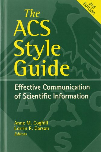 ACS American Chemical Society Citation Guide Research Guides