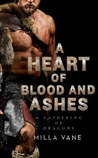 A Heart of Blood and Ashes by Milla Vane book cover
