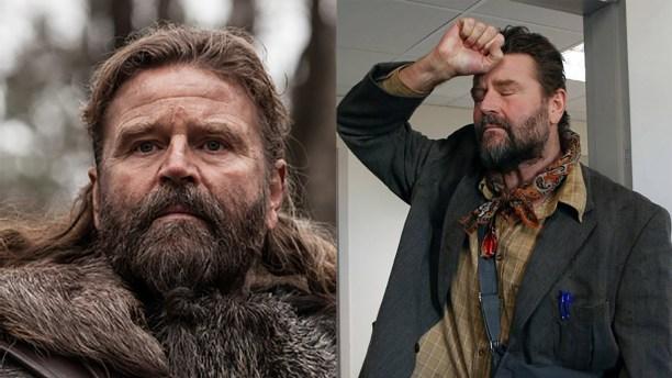 Peter Gantzler in 'The Last Kingdom' (left) and 'A-Klassen.' (Photos: BBCA/ Fridthjof Film)