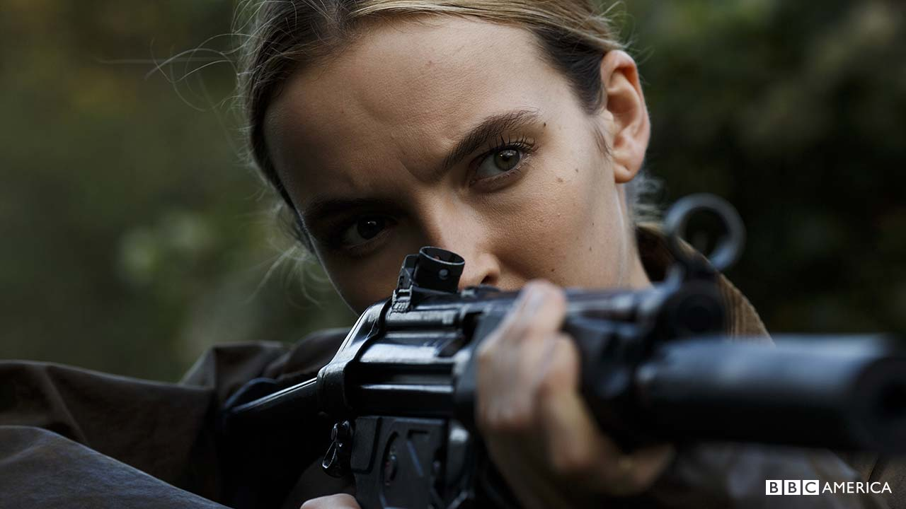 Epic Girl With Gun Wallpaper First Look Photos Bbc America S Killing Eve Premieres
