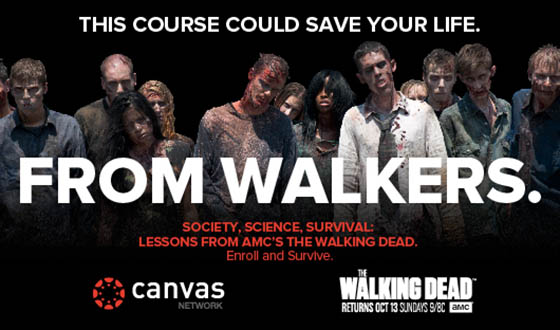 http://blogs.amctv.com/the-walking-dead/2013/09/amc-instructure-and-uc-irvine-to-offer-free-online-course-based-on-the-walking-dead/